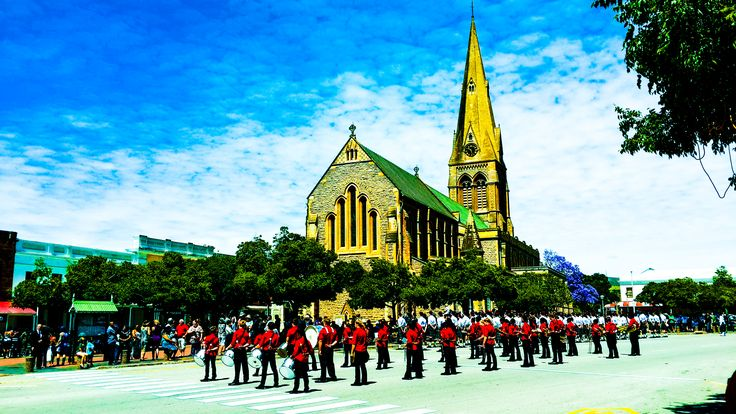 Remembrance Day parade, Church Square, Grahamstown. 8 November 2015