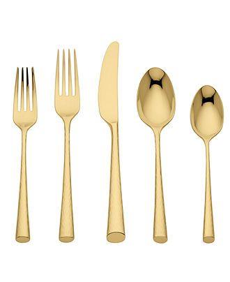 (Marchesa!) Gold flatware