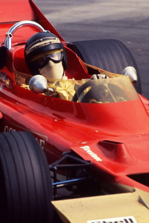 Jochen Rindt (Lotus-Ford 72) vainqueur du Grand Prix d'Allemagne - Hockenheim 1970 - Grand Prix