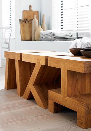 Small square tafel, verkrijgbaar in 6 verschillende uitvoeringen Roderick Vos