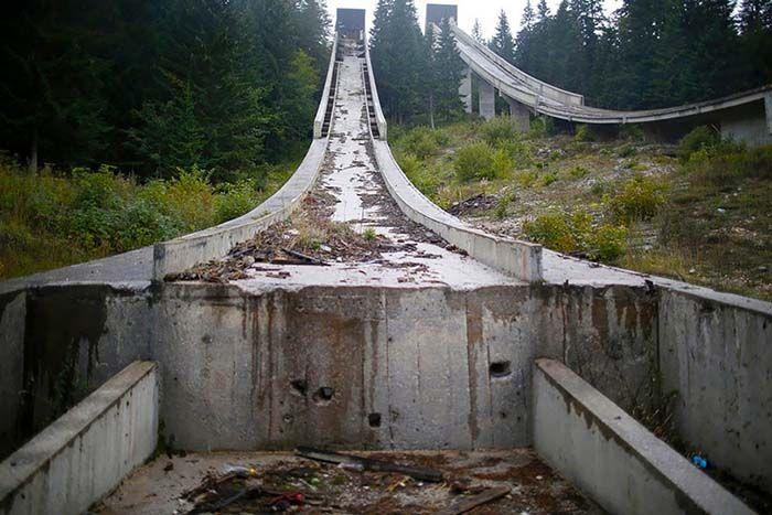Ski Jump, Sarajevo, 1984 Winter Olympics Venue | www.piclectica.com #piclectica