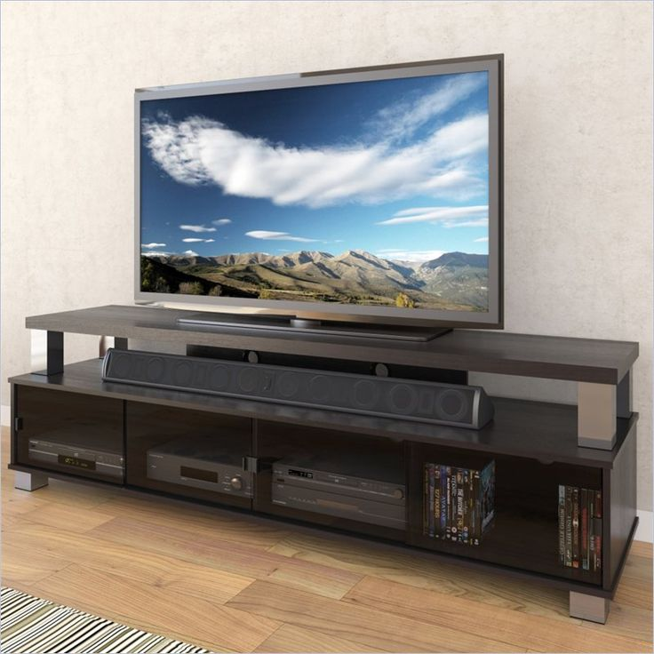 "Bromley 75"" 2 Tier TV Bench in Ravenwood Black  by  Sonax $499"