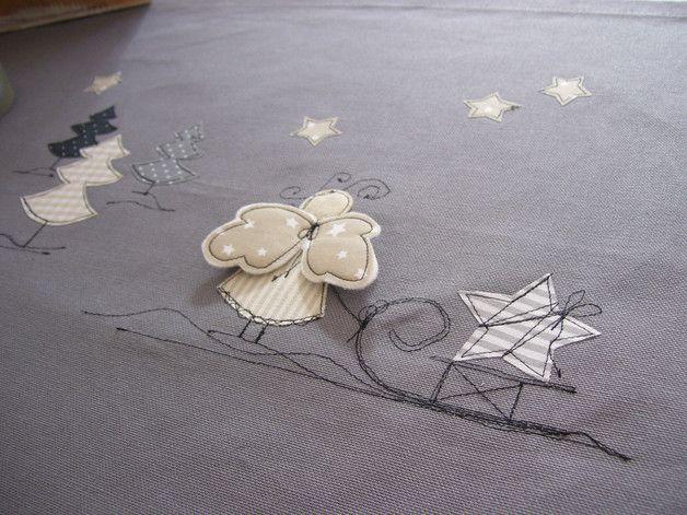 Deko und Accessoires für Weihnachten: Tischläufer ENGEL made by farbklecks via DaWanda.com