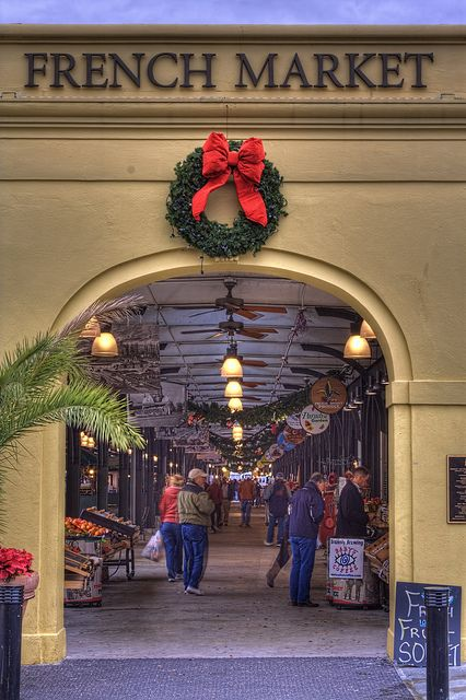 The French Market in New Orleans at Christmas time