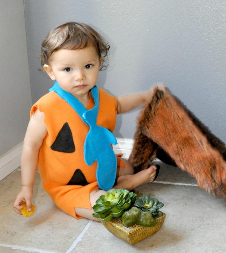 Fred Flinstone inspired costume kid toddler boy child babies baby children little halloween costumes school event birthday parties.. $69.00, via Etsy.