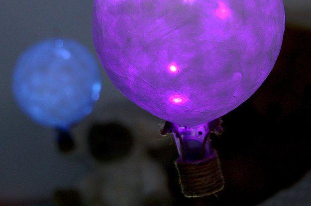 Drift To Sleep Under These Calming DIY Hot Air Balloon Lanterns