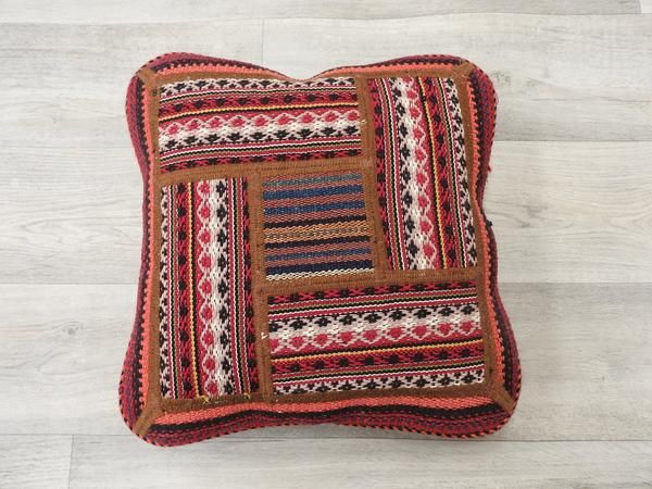 Persian Kilim Rug Cushion, Size approx: 40cm x 40cm, Weft/ Warp: Wool, Condition: Excellent