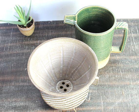 Pottery Coffee Maker Handmade Coffee Dripper by InsCeramics