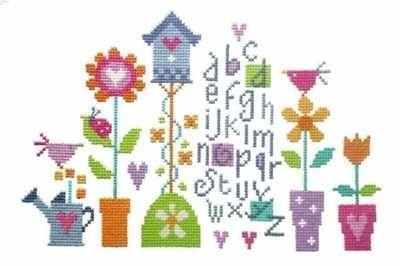 Pretty Garden - Cross Stitch Kit