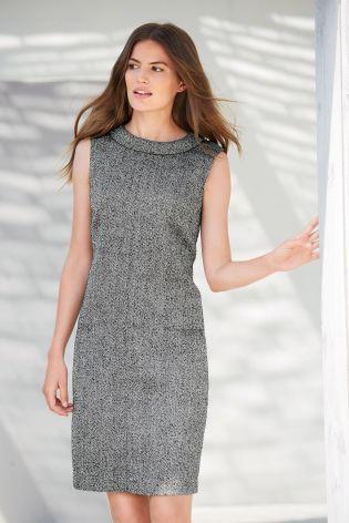 Buy Grey Herringbone Dress from the Next UK online shop