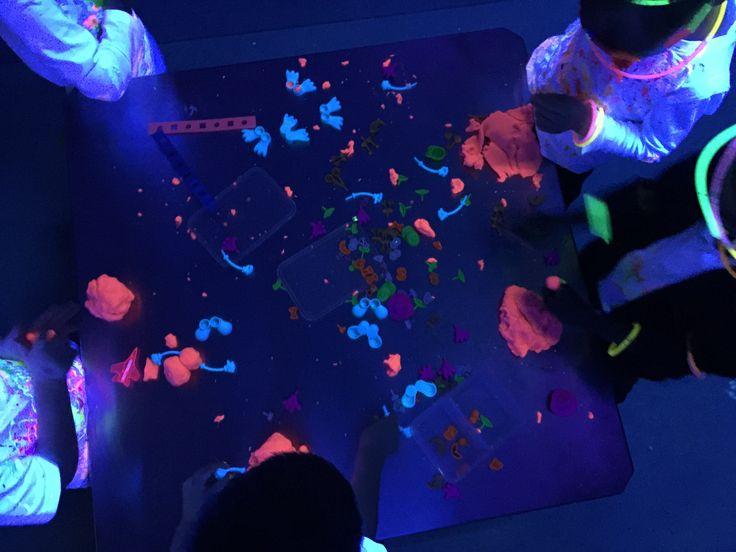 Neon play dough