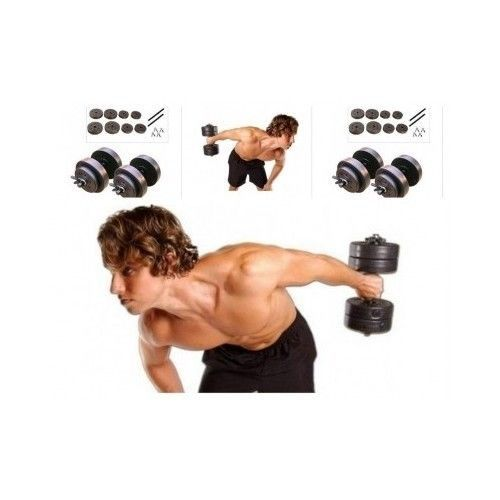 Dumbbell Weight Set Adjustable Dumbells Gym Workout Exercise 40lb Pair Steel Bar in Sporting Goods, Fitness, Running & Yoga, Strength Training, Other Strength Training | eBay