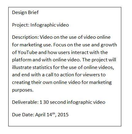 Design Brief - Info =graphic
