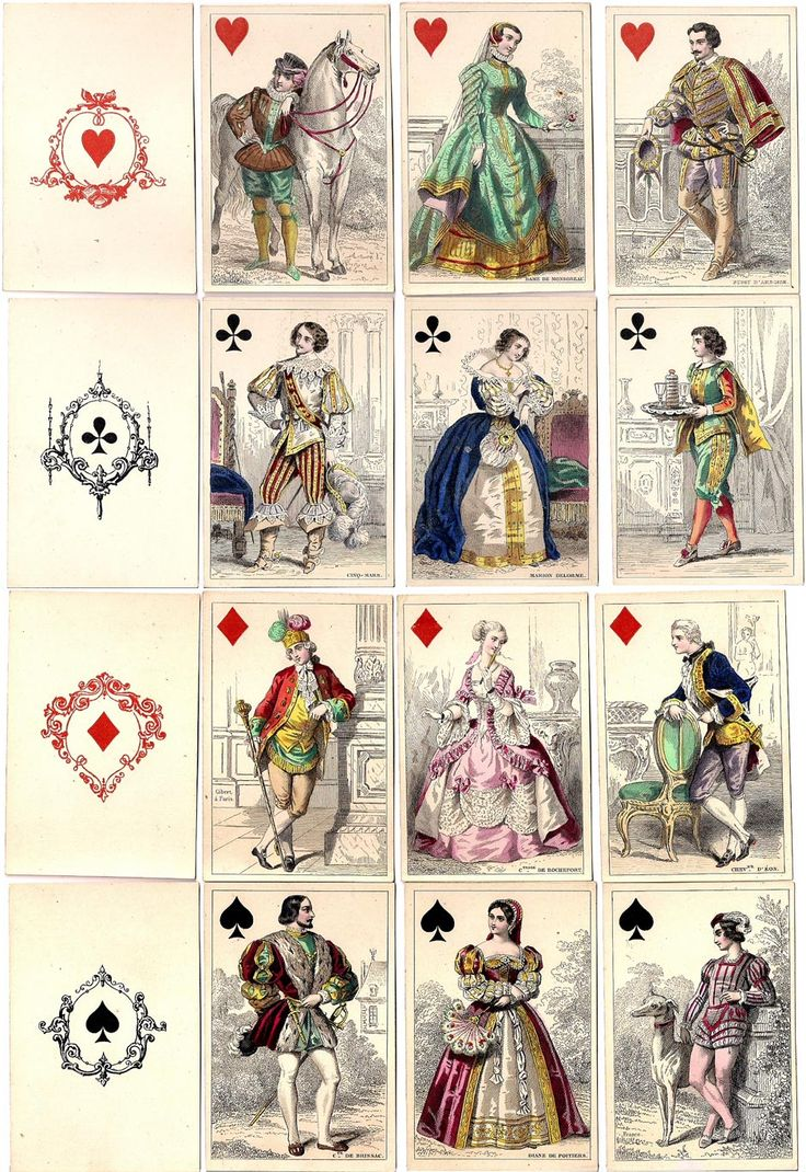 Historical Playing Cards by O. Gibert, Paris, c.1853