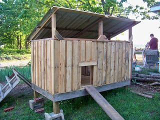 Chicken Coops Made From Pallets | Outdoor Living / Chicken Coop made from pallets
