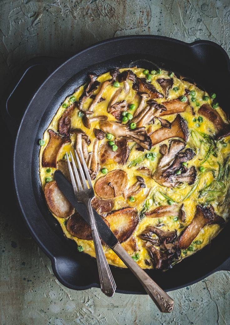 Asparagus, Mushrooms and Potatoes Frittata Recipe