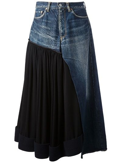 Denim Skirt Trouser