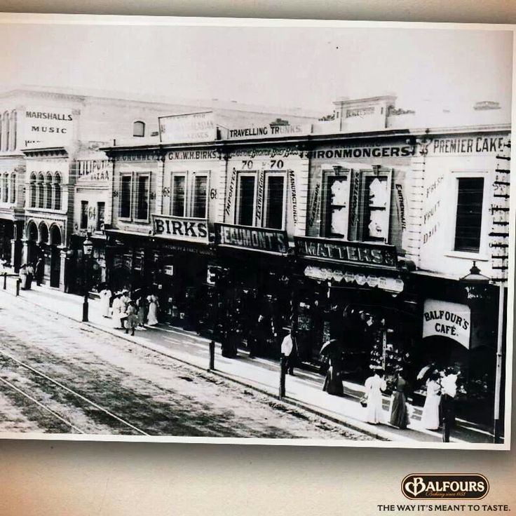 Rundle mall, Adelaide, circa late 1800's to early 1900's.