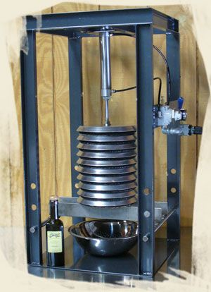 "If your interested in purchasing the ""CUB"" Olive Oil Press but are concerned that 10 lbs per batch is not large enough, the ""BRUIN"" Upgrade is just for you. Description from sanfelipeoliveco.com. I searched for this on bing.com/images"