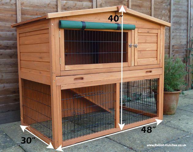 bunny hut   Total footprint: Height 102cm x Width 78cm x Length 123.5 cm ...