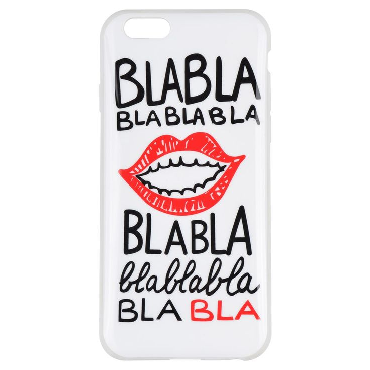 Coque Iphone 6 Blabla Blanc