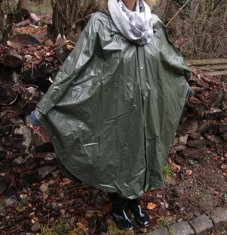 PVC Regencape Regenponcho Jeantex Friesennerz Gummi rubber Raincoat ...