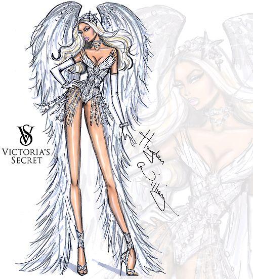 Victoria's Secret 2014 collection by Hayden Williams 'Winter White Angel'