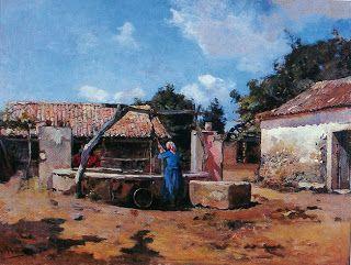 SILVA PORTO - Na cisterna Óleo sobre tela, 42,5 x 56,5