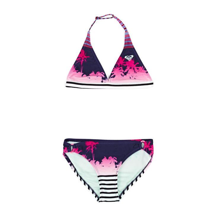 Roxy Halter Bikini Set - Pop Palm Combo Sailor Blue