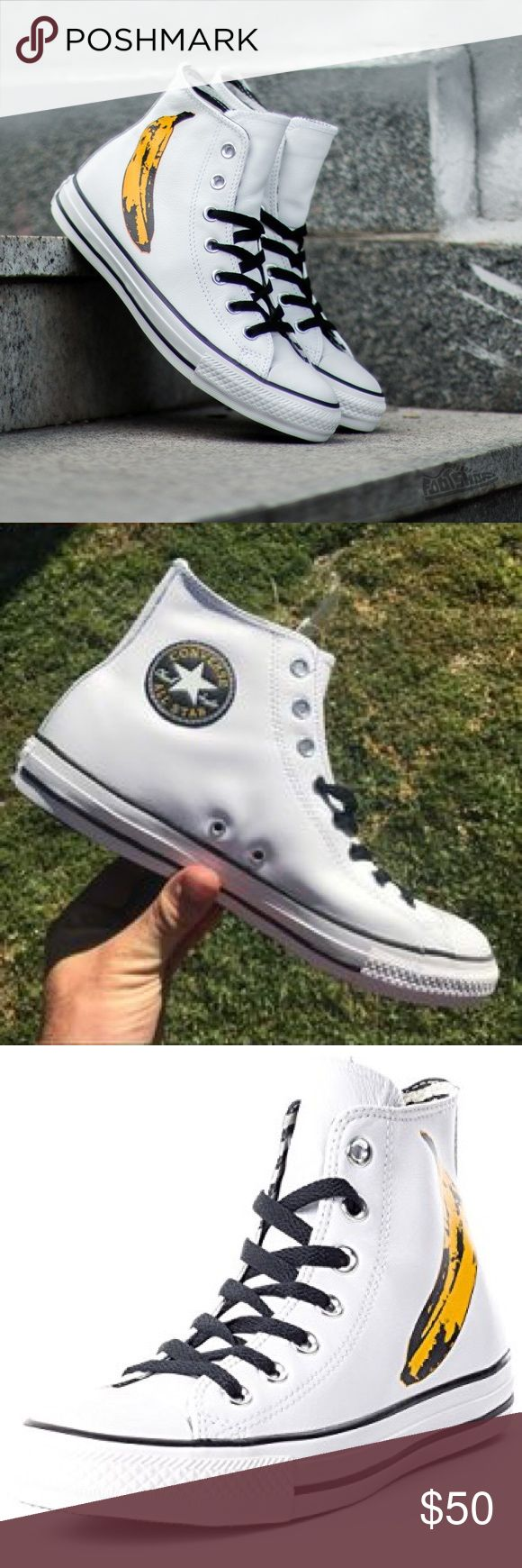 Converse Mens size 10 Andy Warhol shoes leather Brand new without box. Men's leather Andy Warhol converse. Converse Shoes Sneakers