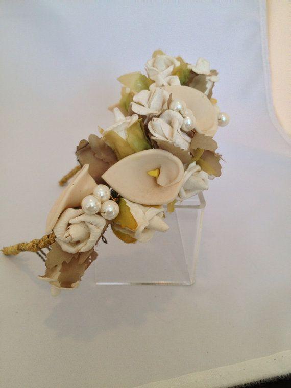 Floral Crown Flower Headpiece Flower Crown Boho by BridalAndBeyond