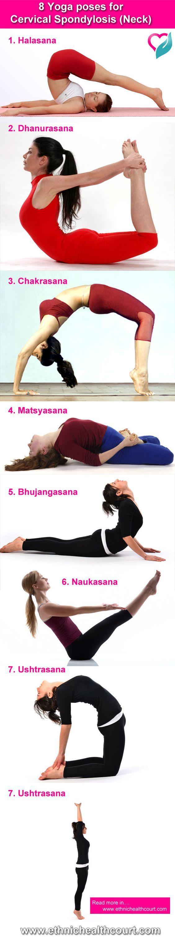 8 Yoga poses for Cervical Spondylosis (Neck)  #YogaPoses  http://iandarrah.com/