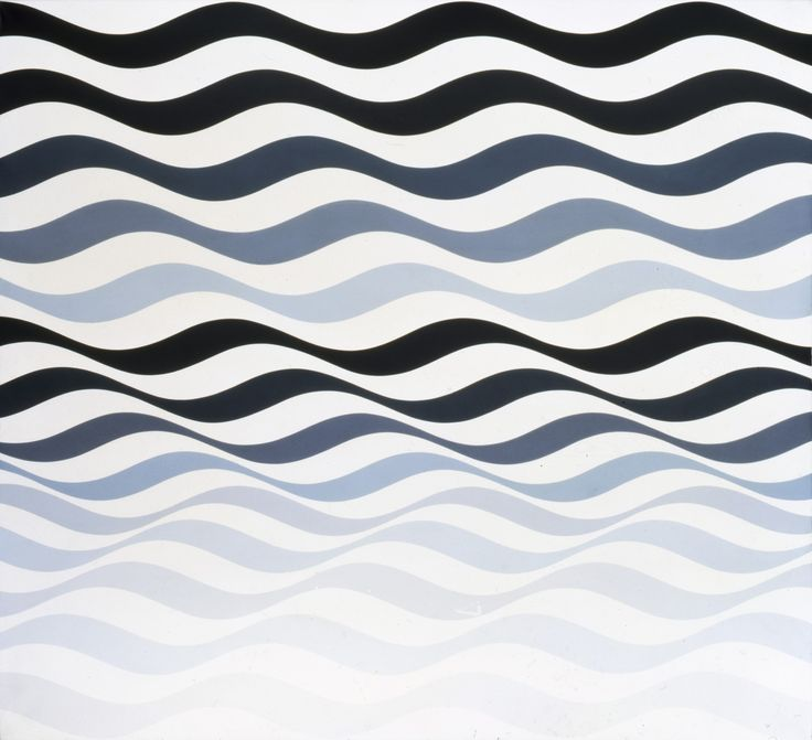 bridget Riley | X7050 Bridget Riley Arrest 3 , 1965 Acrylic on linen, 175 x 192 cm ...