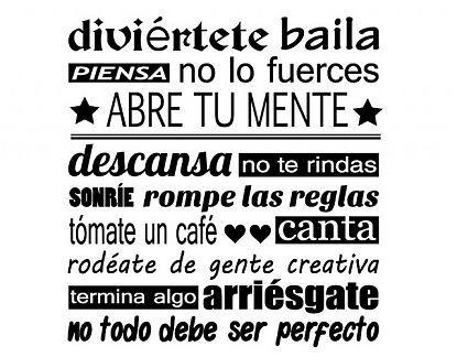 """Vinilo Adhesivo sobre Frases y Letras """"Autoestima"""" 02737 - Tienda online de vinilos decorativos, stickers, wall art, decoración"""