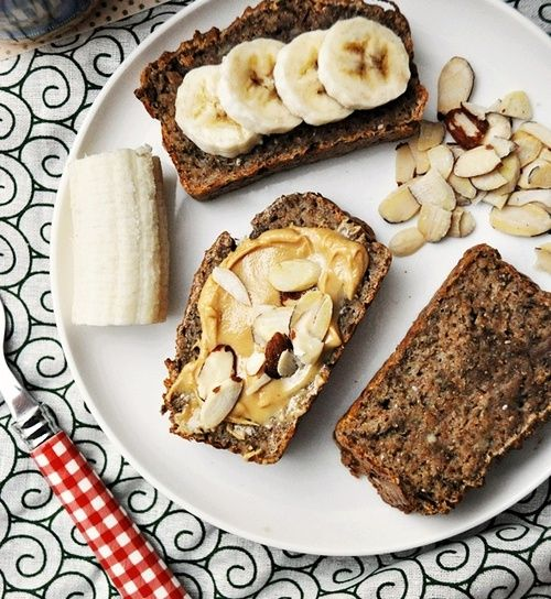 fruitasticharlotte:  chocolatefoood:  Spelt & Chia Seeds Banana Bread  This makes me miss my banana bread!