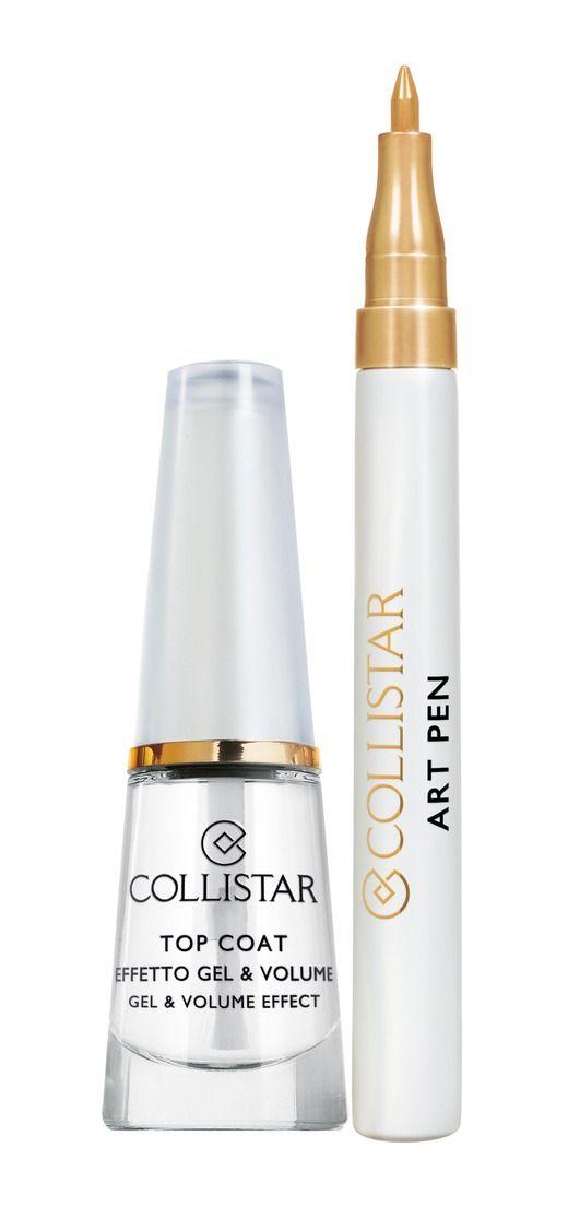 Top Coat Effetto Gel & Volume + Art Pen Oro#collistar #beauty #natale #christmas #makeup #nailart #unghie #smalto #nails #topcoat #artpen #pen #oro #gold