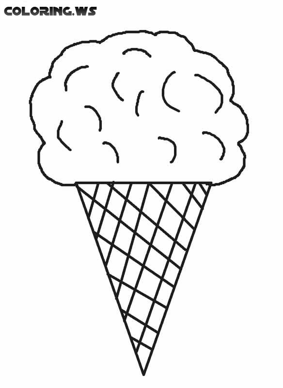 Free Blank Ice Cream Coloring Page free blank Ice