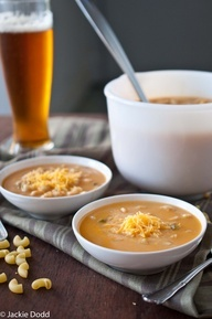 Mac and Beer Cheese Soup [via the beeroness]