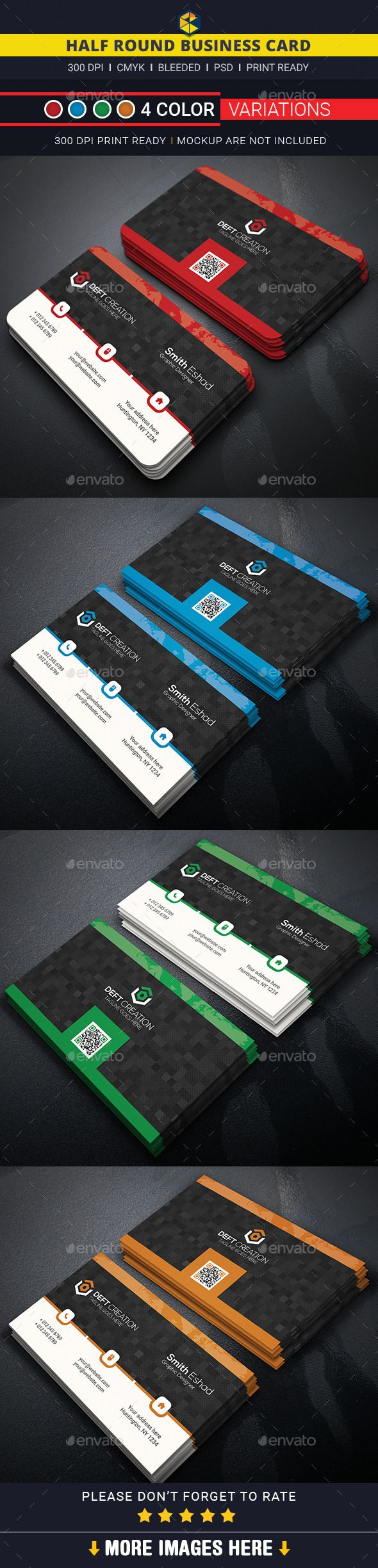 Best 25 round business cards ideas on pinterest circle business half round business card template design download httpgraphicriver reheart Image collections