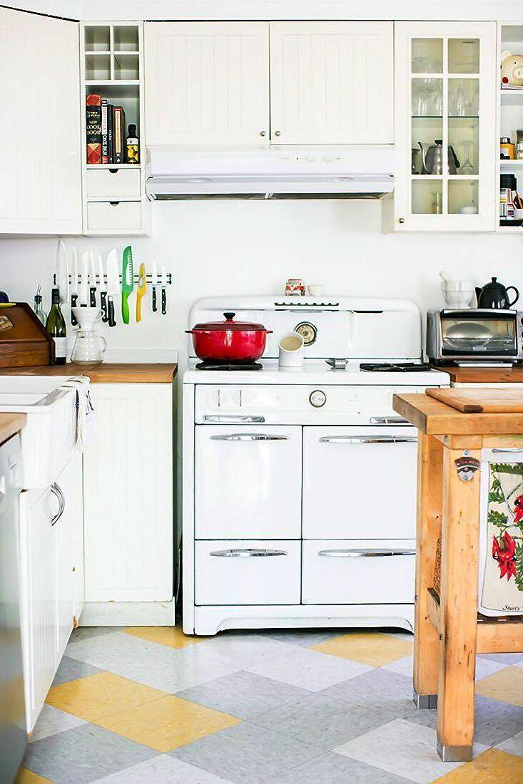 Checkerboard Kitchen Floor Ideas, Retro Tile Trend   Kitchen ...