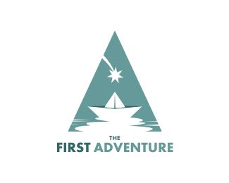 The First Adventure Logo - This logo is ideal for children, travel, entertainment & media, and any related businesses. Price $500.00