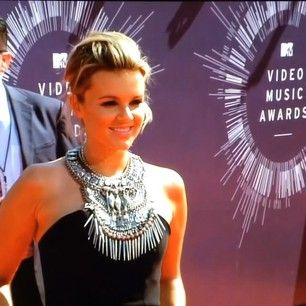 Video Music Awards 2014 Red Carpet Arrivals - Ali Fedotowsky - wearing Mariam Seddiq #mariamseddiq @Mariam Seddiq www.mariamseddiq.com