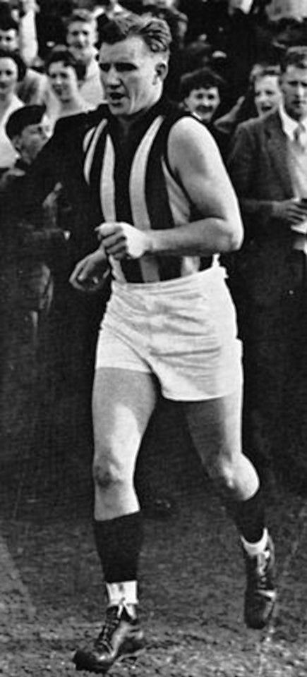 Bob Rose. Played 1946-1955. Coached 1964-1986. Games Collingwood 152. AFLPA Award for Most Courageous Player named in his honour.