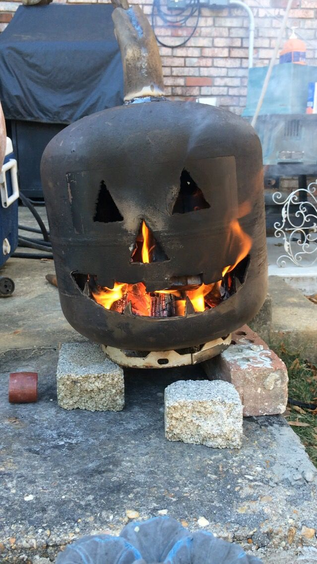 Propane Tank Pumpkin On Fire Completed Projects