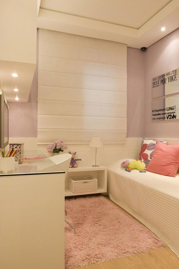 Love the wall color for girls room.