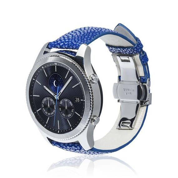 Watch Band Stingray For Samsung Gear S3 Classic Gear S3 Frontier More Colors Available Stainless Steel And Leather Watch Bands Samsung Watches Leather