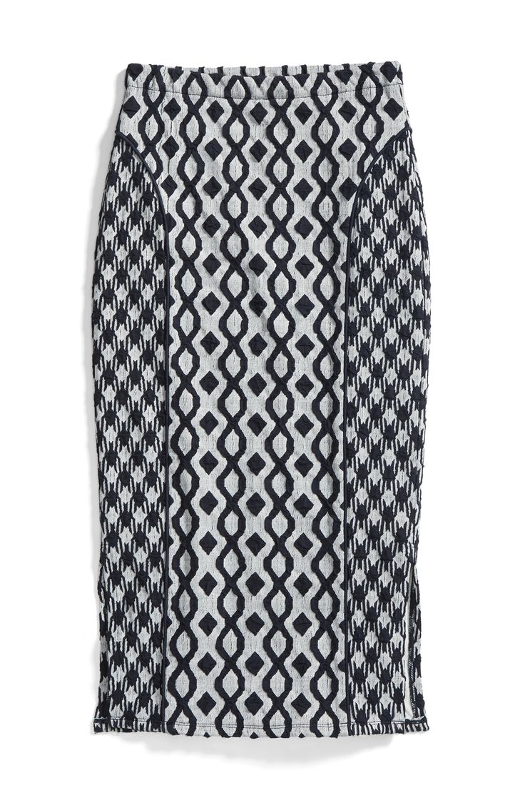 Stitch Fix Winter Essentials: For a slimming look, try a pencil skirt with paneled pattern blocking.