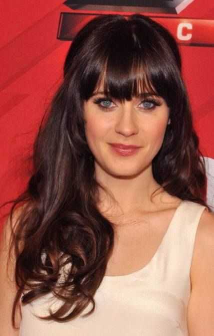 42+ Concepts For Wedding ceremony Hairstyles Half Up Half Down With Fringe Zooey Deschanel