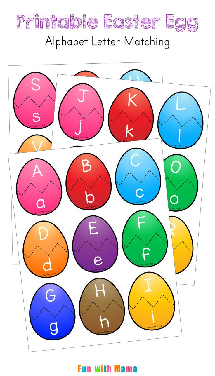 Easter Alphabet Letter Match Activity for Preschoolers via @funwithmama