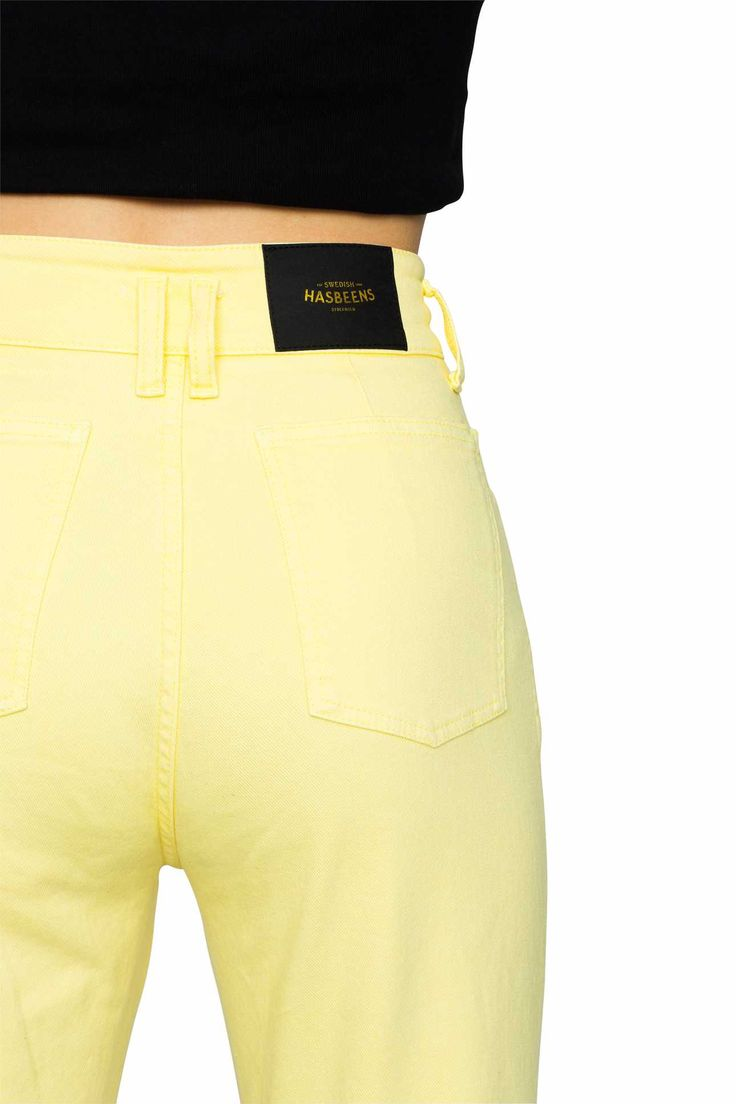 Swedish Hasbeens HasJeans Mom Jeans Pastel Yellow